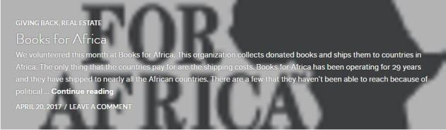 Books for Africa