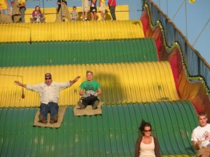 big yellow slide