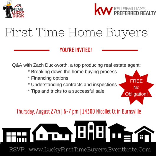 First Time Home Buyer Seminar Thursday August 27th